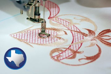 machine embroidery - with Texas icon